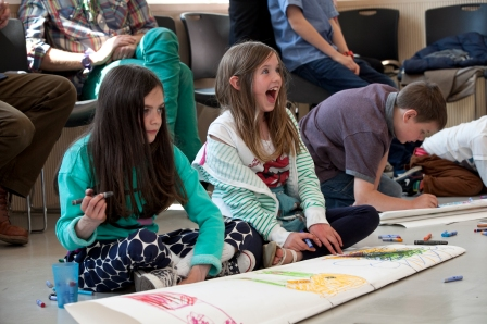Family workshop at Jerwood Gallery © Pete Jones